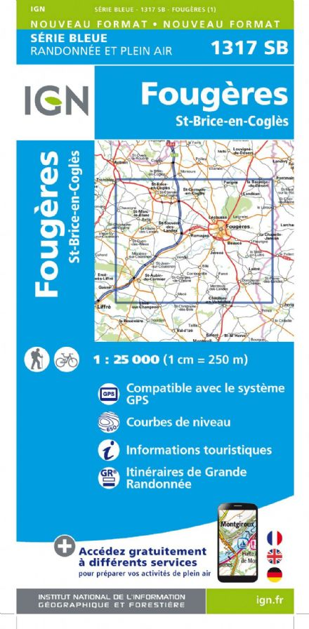 IGN 1317 SB - Fougeres Saint-Brice-En-Cogles